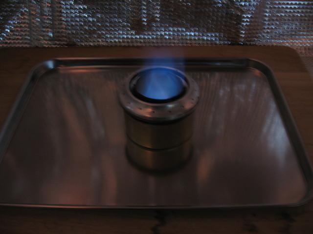 副室加圧型アルコールストーブ/ダブル副室:予熱